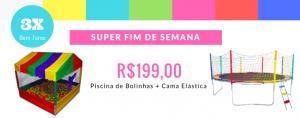 Piscina de Bolinha e Cama Elástica