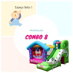 Combo 8: Espaço Kids Baby 1 + Pula Pula Com tobogã Dálmatas