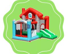 Logo Pula Pula com escorregador Casa Feliz