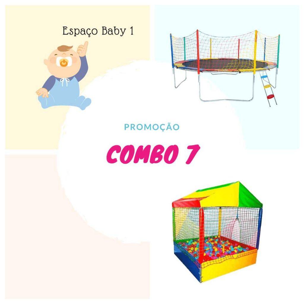 Espaço Baby + Piscina de bolinhas + cama elástica